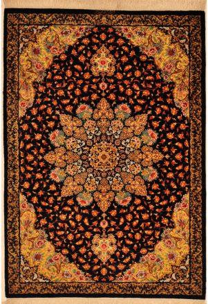 Silk and Wool Qum Rug over 700 KPSI
