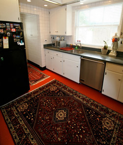 abadeh persian rug in a kitchen