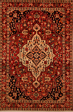 example of a geometrical Bakhtyari Persian rug