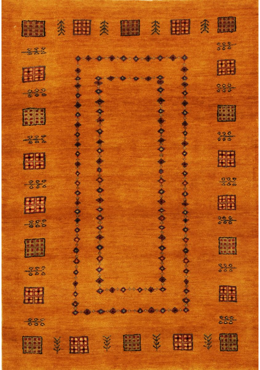 Yellow color gabbeh rug