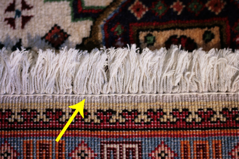 Hand Knotted Rug Fringes