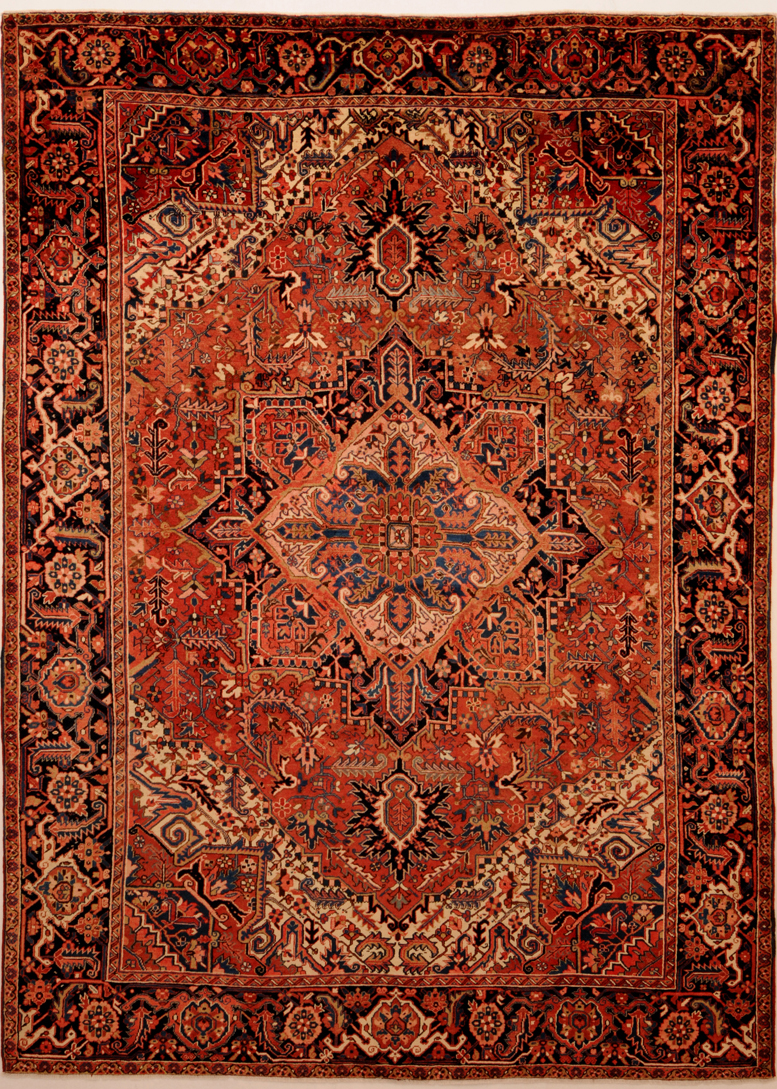 Example Of Geometric Heriz Persian Rug