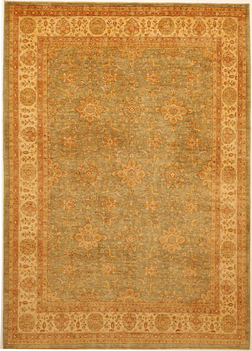 new Peshawar rug with antique finsih